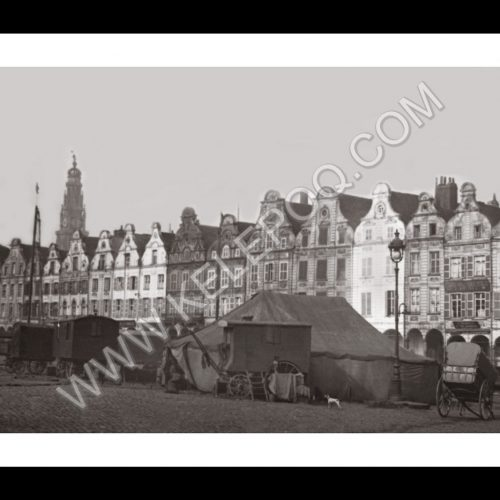 Photo d'époque Arras n°02 - Gde Place 1908