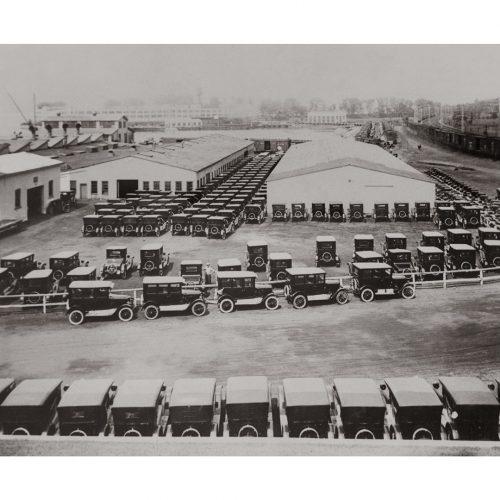 Photo d'époque Automobile n°46 - usine Ford T - photographe Victor Forbin