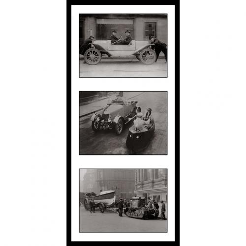 Photo d'époque Automobile n°57 - triptyque Victor Forbin