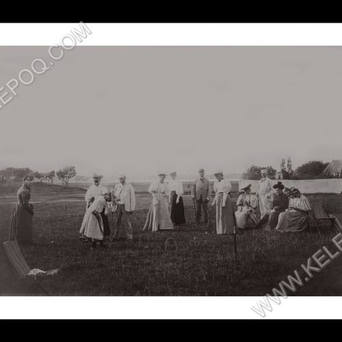 Photo d'époque Campagne n°07 - partie de croquet