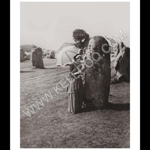 Photo d'époque Carnac n°01 - Alignement de Carnac Octobre 1913