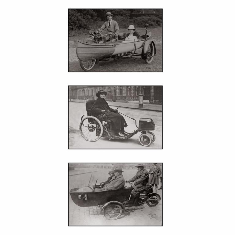 Photo d'époque cycle triptyque n°37 - Victor Forbin