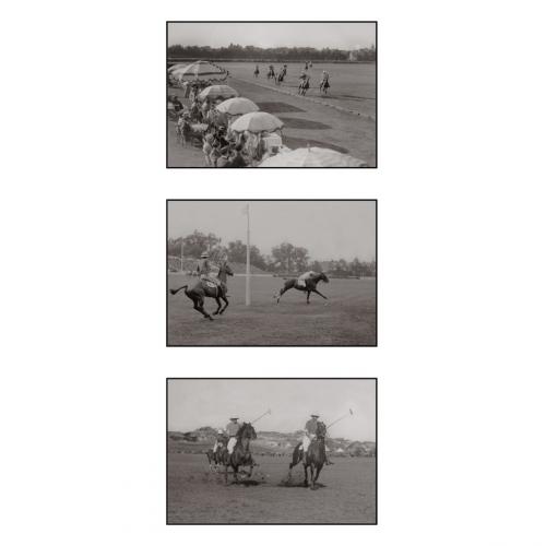 Photo d'époque équitation n°29 - triptyque - Victor Forbin