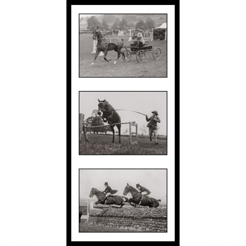 Photo d'époque équitation n°31 - triptyque - Victor Forbin