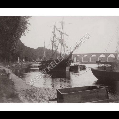 Photo d'époque Hennebont n°01 - Le port