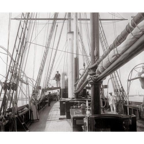 Photo d'époque mer n°09 - voilier de croisière
