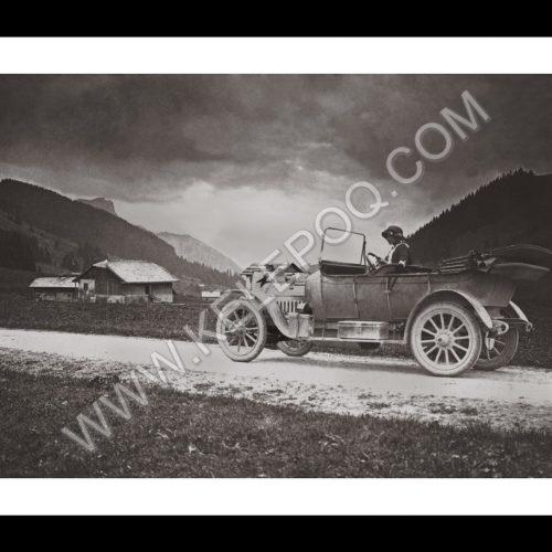 Photo d'époque montagne n°73 - Route de Saanen, Aigle (Suisse) - 1913