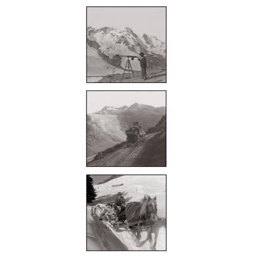 Photo d'époque montagne n°76 - triptyque