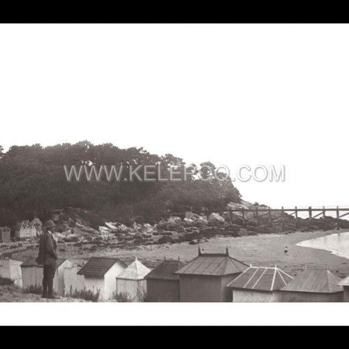 Photo d'époque Noirmoutier n°09 - estacade - plage des Dames - Août 1908