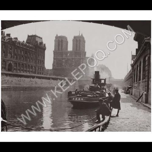 Photo d'époque Paris n°01 - photographe Victor Forbin - Cathédrale Notre Dame