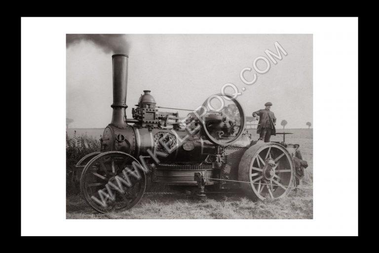 Photo d'époque locomotive n°01 - locomotive agricole