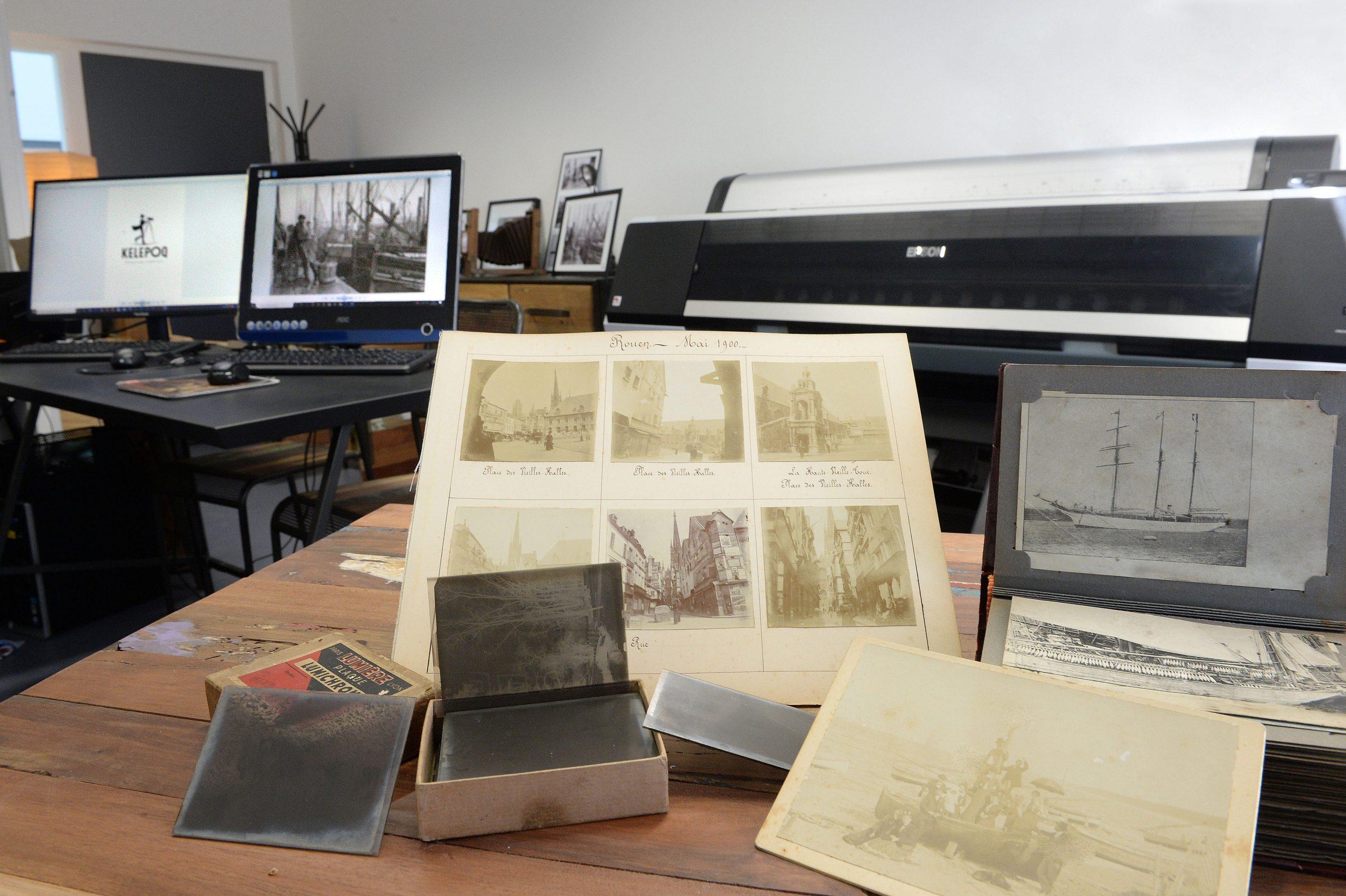 Photos anciennes et plaques de verre