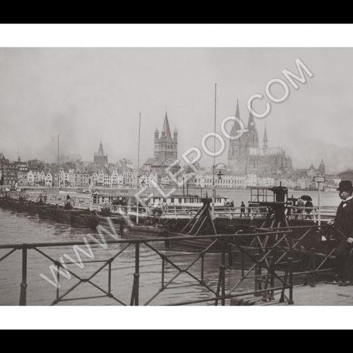 Photo d'époque Cologne n°03 - vue des quais de Deutz