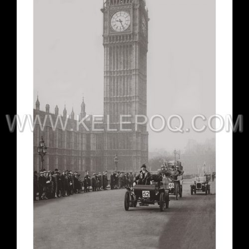 Photo d'époque Londres n°02 - course voiture - Big Ben