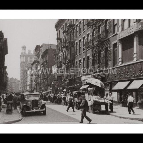 Photo d'époque New-York n°03- 1939 - Quartier juif