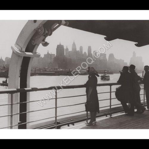 Photo d'époque New-York n°06 - arrivée dans le port de New-York - 1939