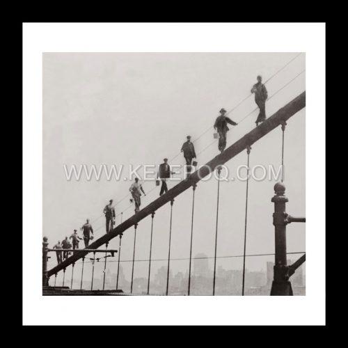 Photo d'époque New-York n°09 - Pont de Brooklyn - Photographe Victor Forbin