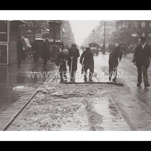Photo d'époque Paris n°08 - déneigement