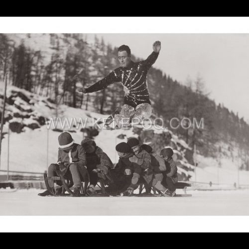 Photo d'époque sport n°21 - saut patin à glace