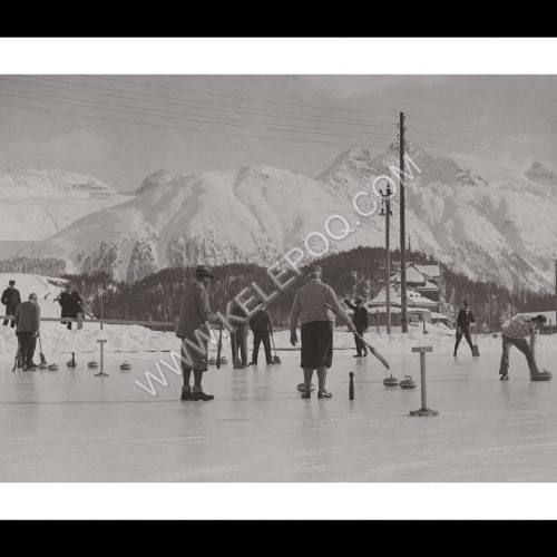 Photo d'époque Sport n°31 - curling - st moritz