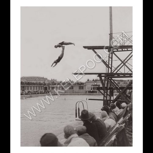 Photo d'époque sport n°32 - plongeon en duo