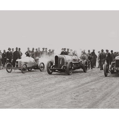 Photo d'époque Automobile n°64 - course à Skegness (Angleterre)- photographe Victor Forbin