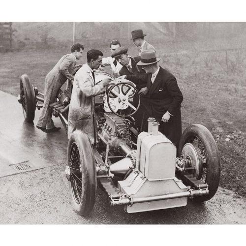 Photo d'époque automobile n°66 - voiture Napier-Campbell Blue Bird - Photographe Victor Forbin