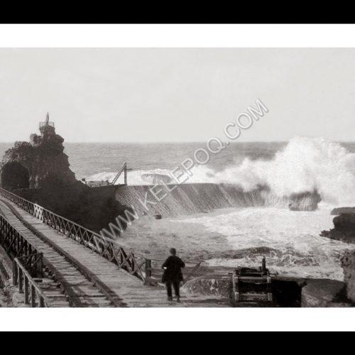 Photo d'époque Biarritz n°02 - rocher de la vierge