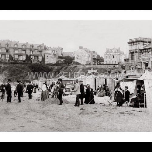 Photo d'époque Dinard n°01 - la plage