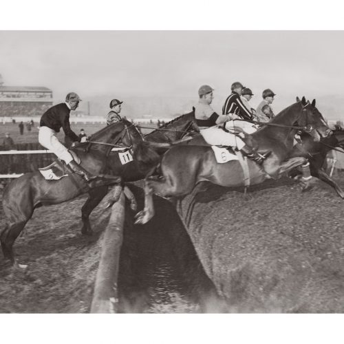 Photo d'époque Equitation n°43 - course d'obstacles Newbury - photographe Victor Forbin