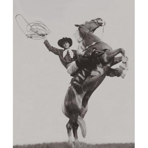 Photo d'époque Equitation n°44 - cowboy Cy Compton - photographe Victor Forbin