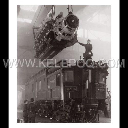 Photo d'époque industries n°07 - moteur nouvelle locomotive électrique