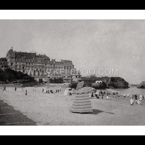 Photo d'époque Biarritz n°01 - la grande plage