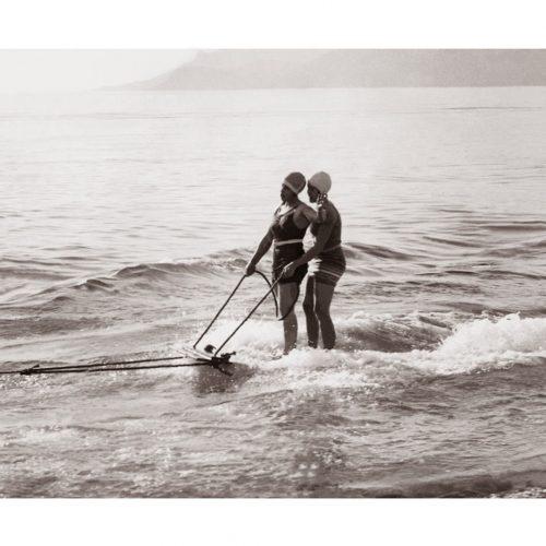 Photo d'époque mer n°49 - début ski nautique