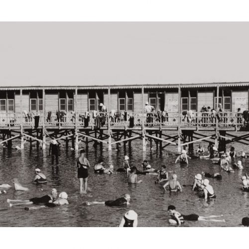 Photo d'époque mer n°51 - bain de mer