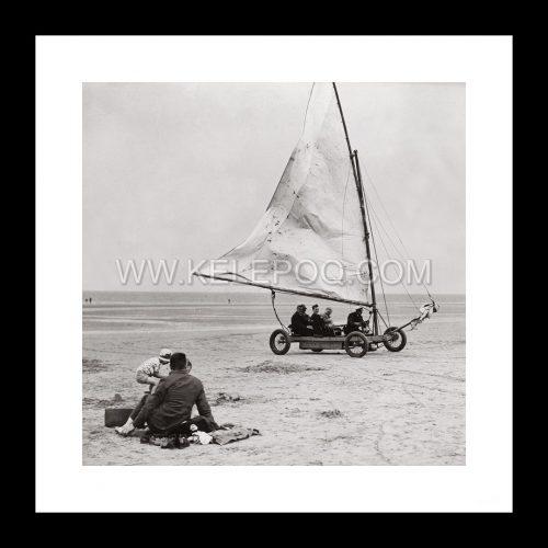 Photo d'époque mer n°53 - char à voile - Skegness