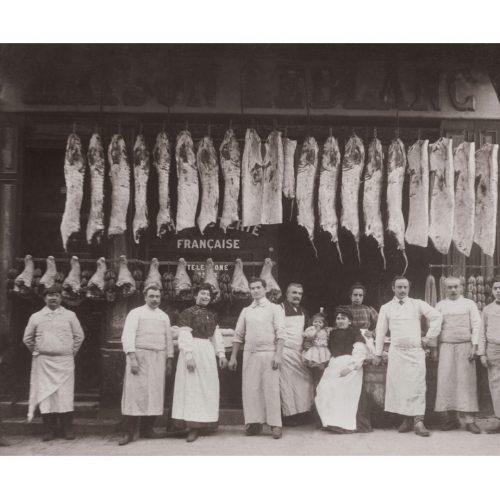 Photo d'époque commerce n°19 - boucherie charcuterie française