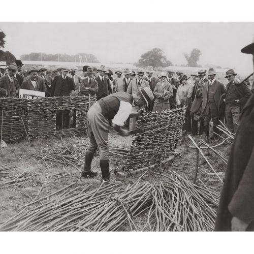 Photo d'époque métiers n°22 - enclos bétail en acacia - photographe Victor Forbin