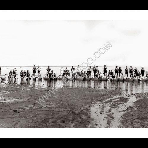 Photo d'époque Mer n°50 - catamarans à rames - Mar Chiquita Argentine - 1939