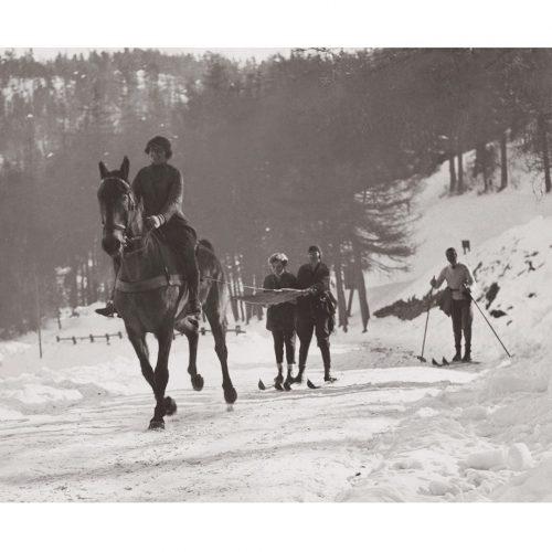 Photo d'époque montagne n°82 - ski attelé ou ski joëring