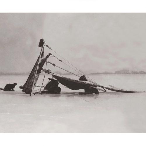 Photo d'époque montagne n°86 - char à voile sur glace