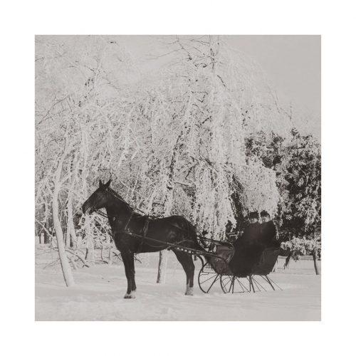 Photo d'époque montagne n°87 - traineau cheval