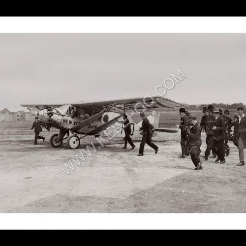Photo d'époque dans les airs n°08 - vol avion transatlantique - aéroport de Croydon - photographe Victor Forbin