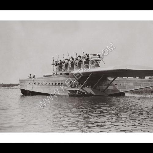 Photo d'époque dans les airs n°09 - hydravion Dornier Do J Wal - photographe Victor Forbin
