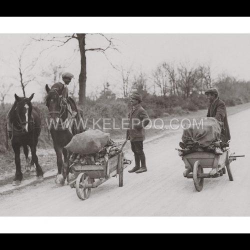Photo d'époque campagne n°08 - ramassage bois - 1923