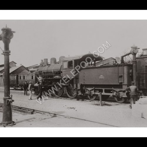 Photo d'époque locomotive n°07 - Locomotive Américaine en service sur la ligne Nantes Bordeaux en 1900