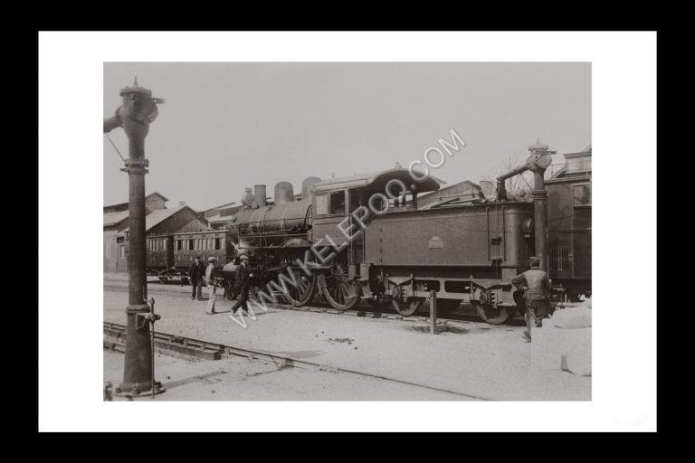 Photo d'époque locomotive n°07 - Locomotive Américaine en service sur la ligne Nantes Bordeaux en 1900