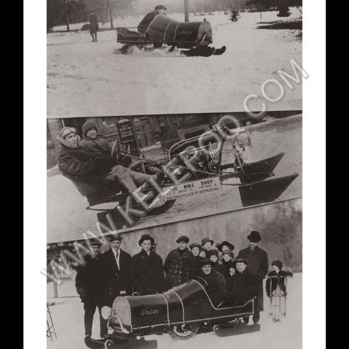 Photo d'époque montagne n°85 - motoneiges
