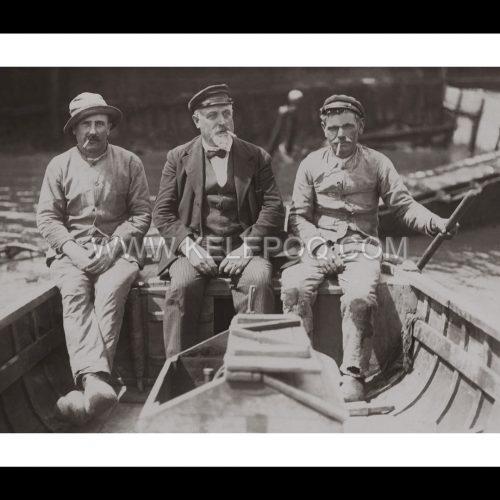 Photo d'époque pêche n°75 - pêcheurs à marée basse - juillet 1930