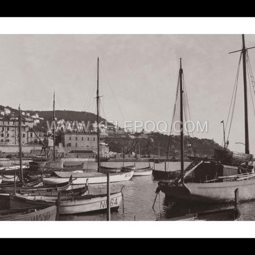 Photo d'époque Nice n°01 - port de Nice